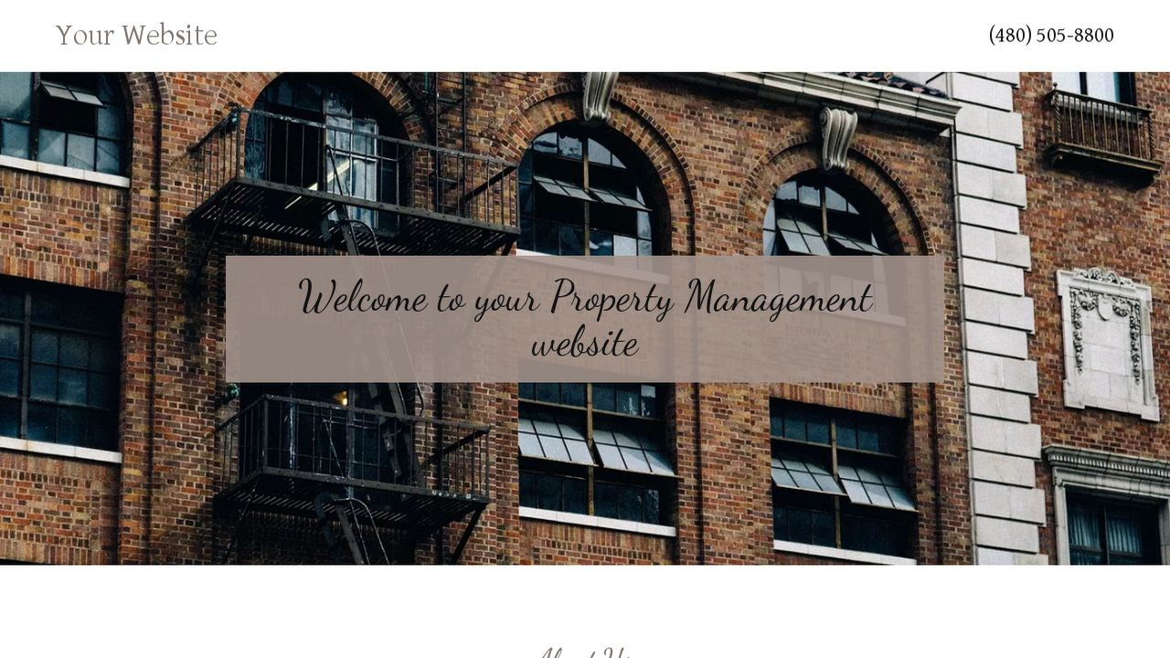 Property Management Website: Example 18