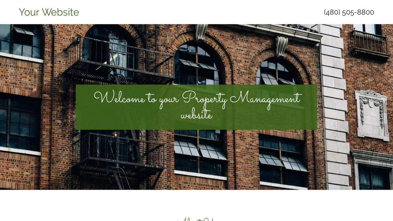 Property Management Website: Example 4