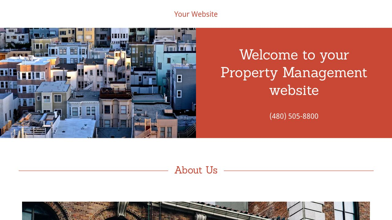 Property Management Website: Example 8