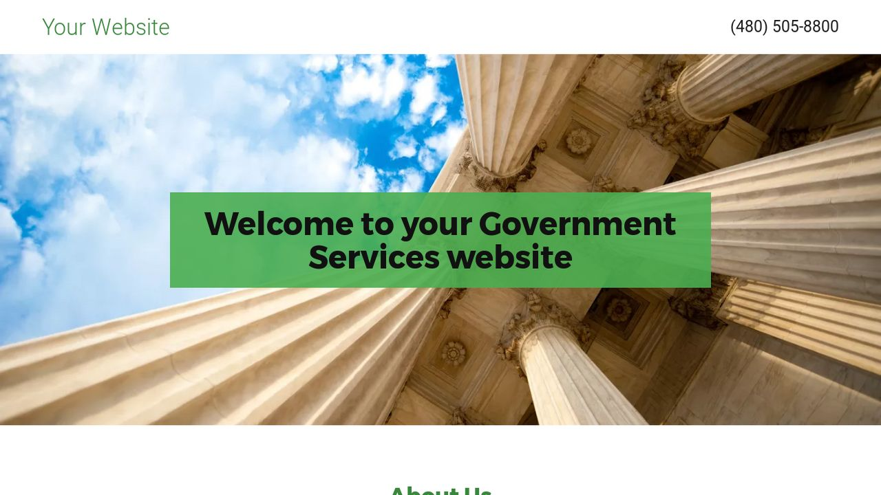 Government Services Website: Example 1