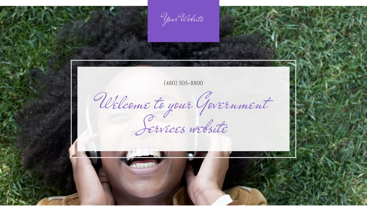 Government Services Website: Example 11