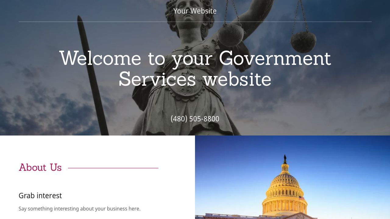 Government Services Website: Example 12