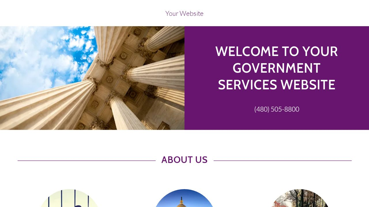 Government Services Website: Example 16