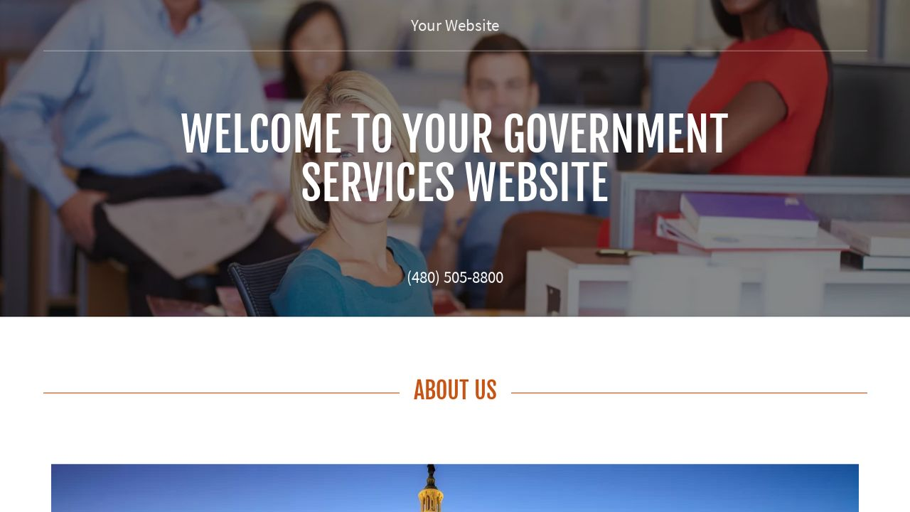 Government Services Website: Example 5