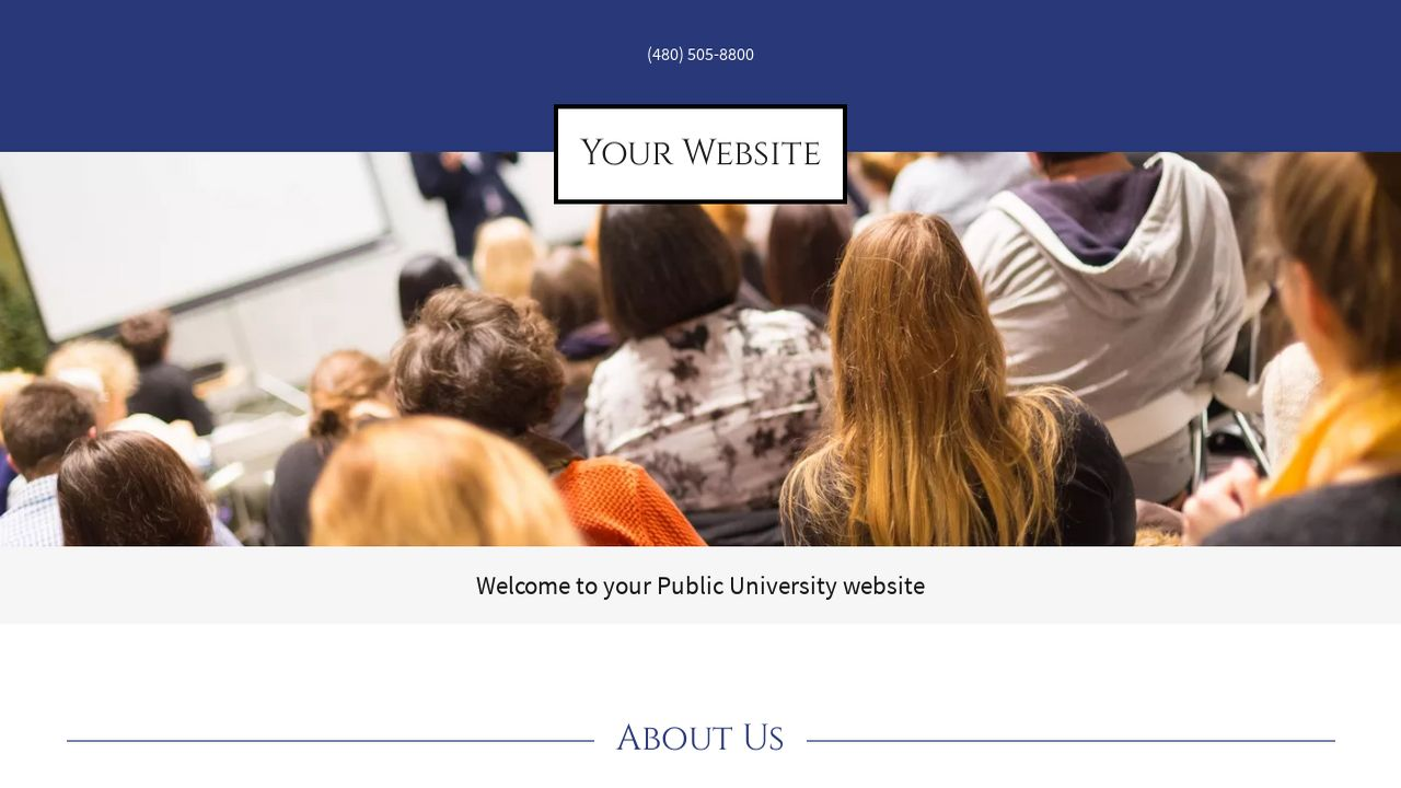 Public University Website: Example 10
