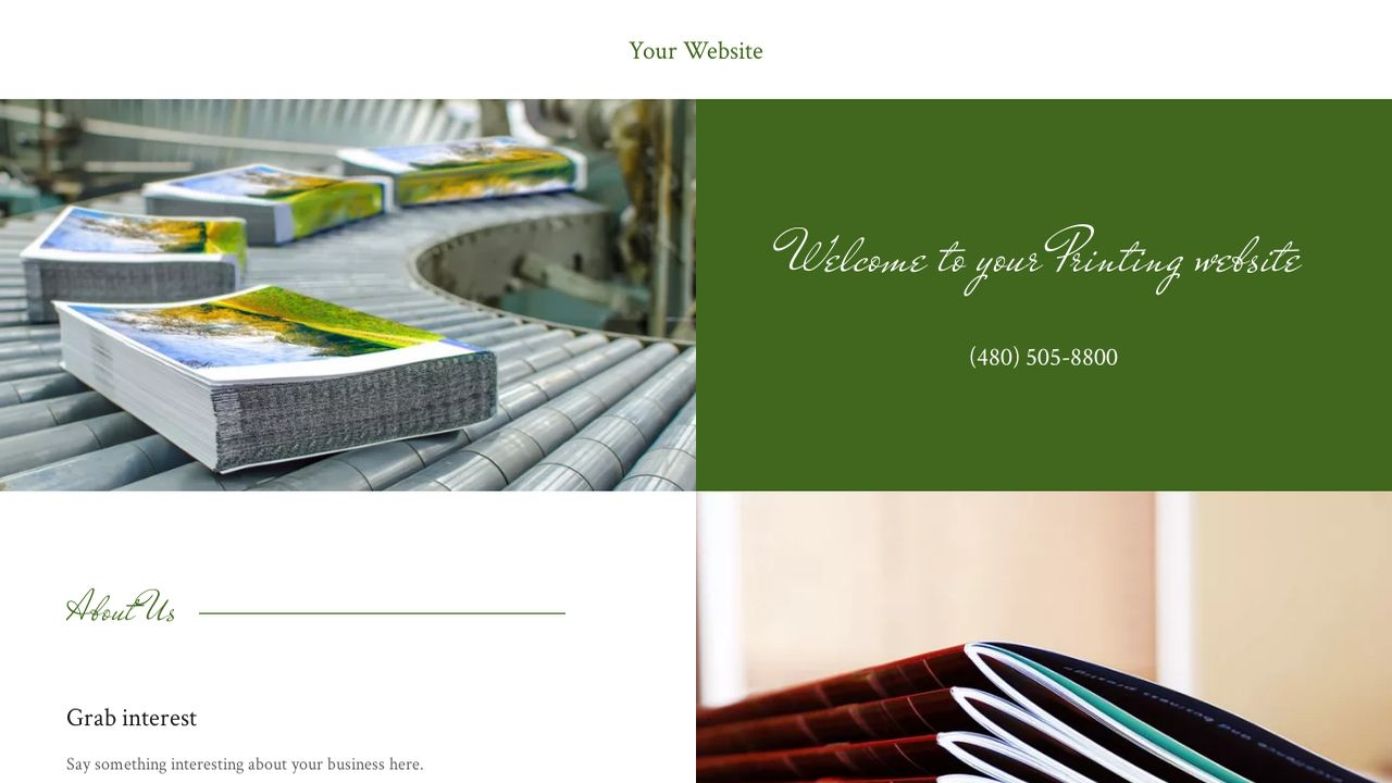 Printing Website: Example 10