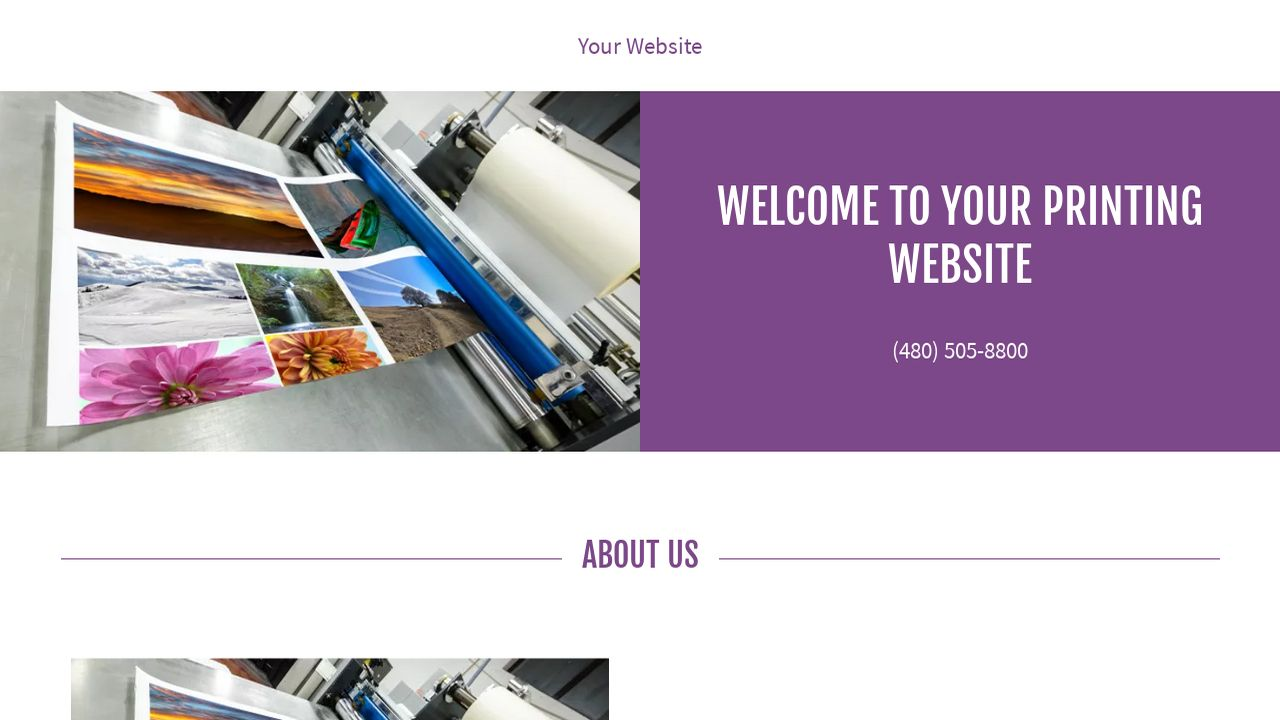 Printing Website: Example 3