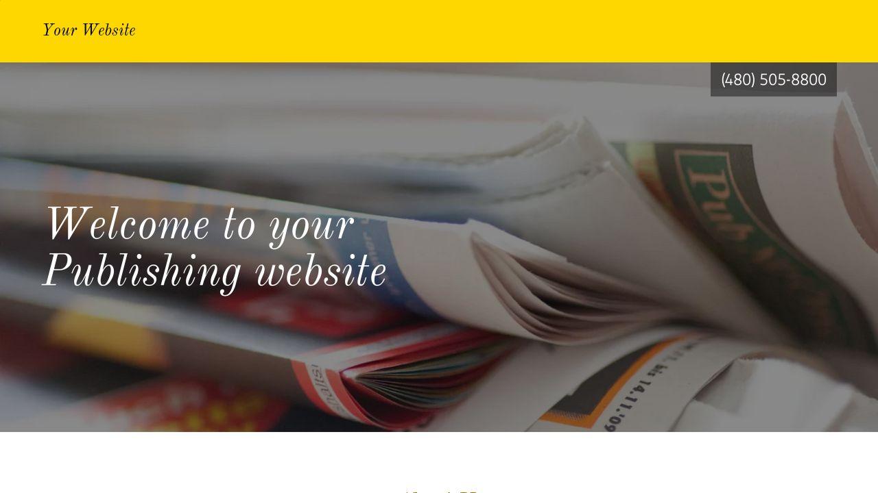 Publishing Website Templates | GoDaddy