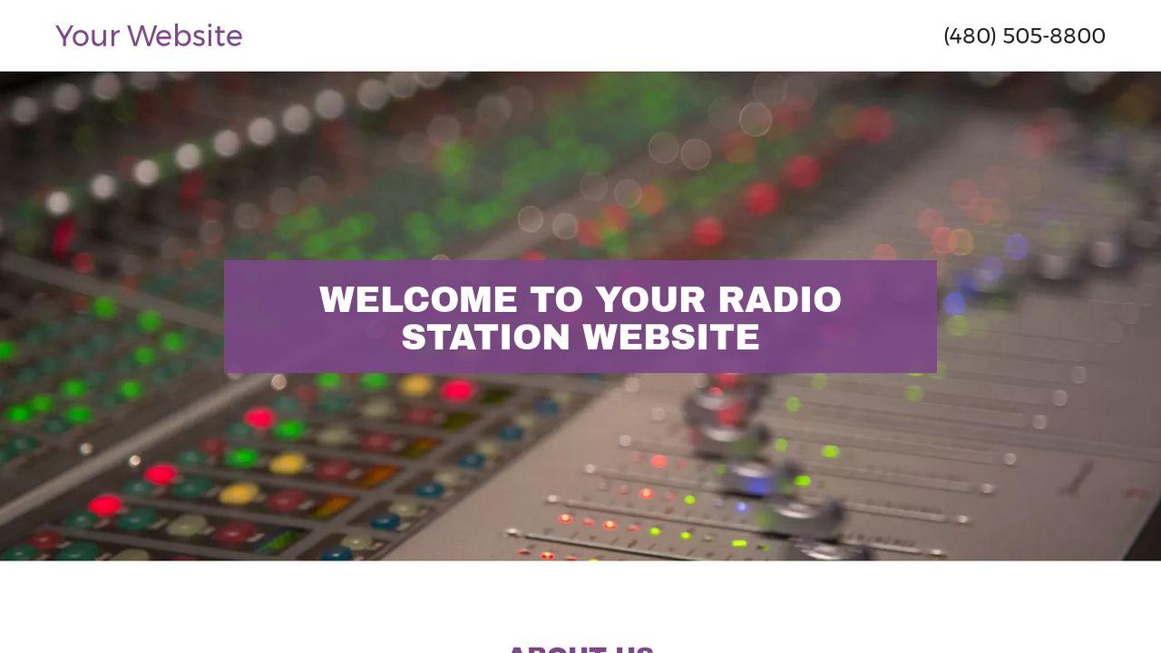 radio station website