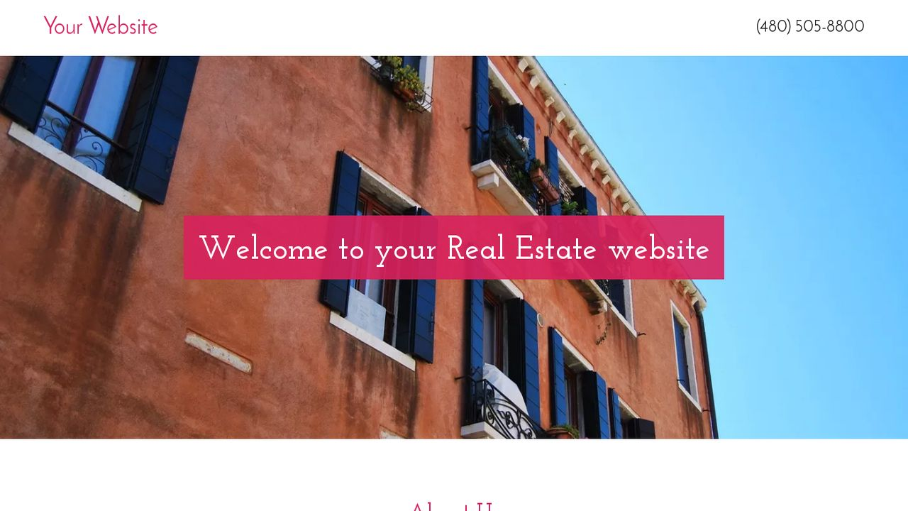 Real Estate Website: Example 1