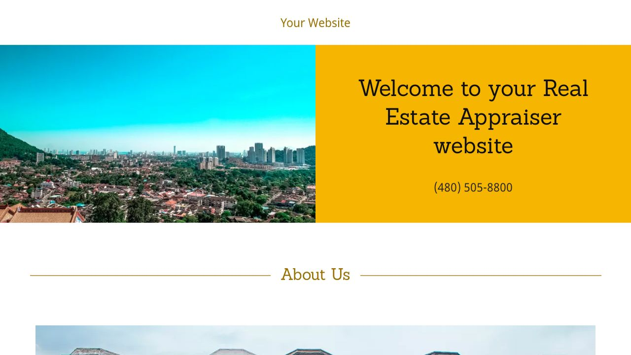 Example 11 real estate appraiser website template godaddy for House appraisal