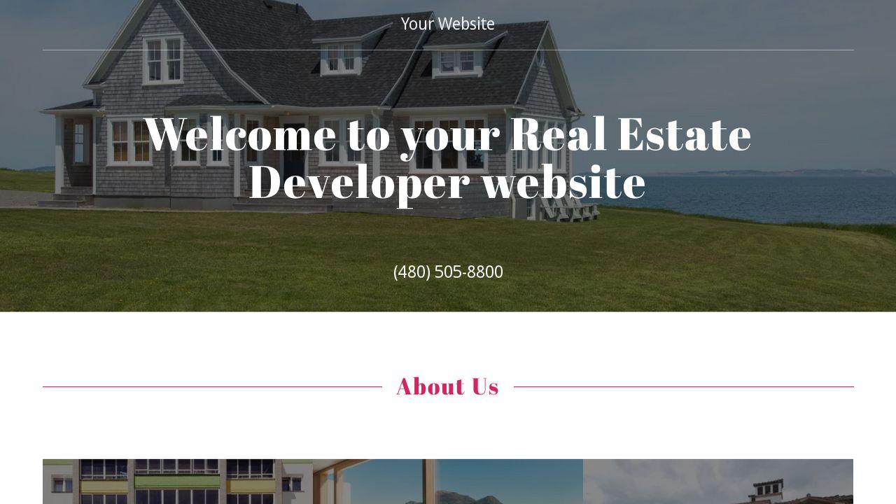 example 12 real estate developer website template