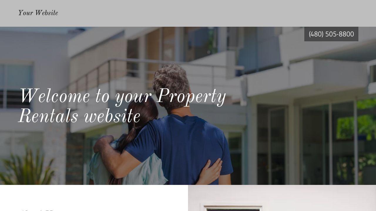 Property Rentals Website Templates | GoDaddy