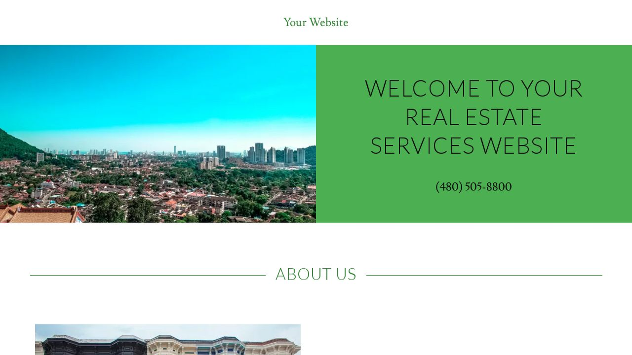 Real estate services website templates godaddy for Godaddy ecommerce templates