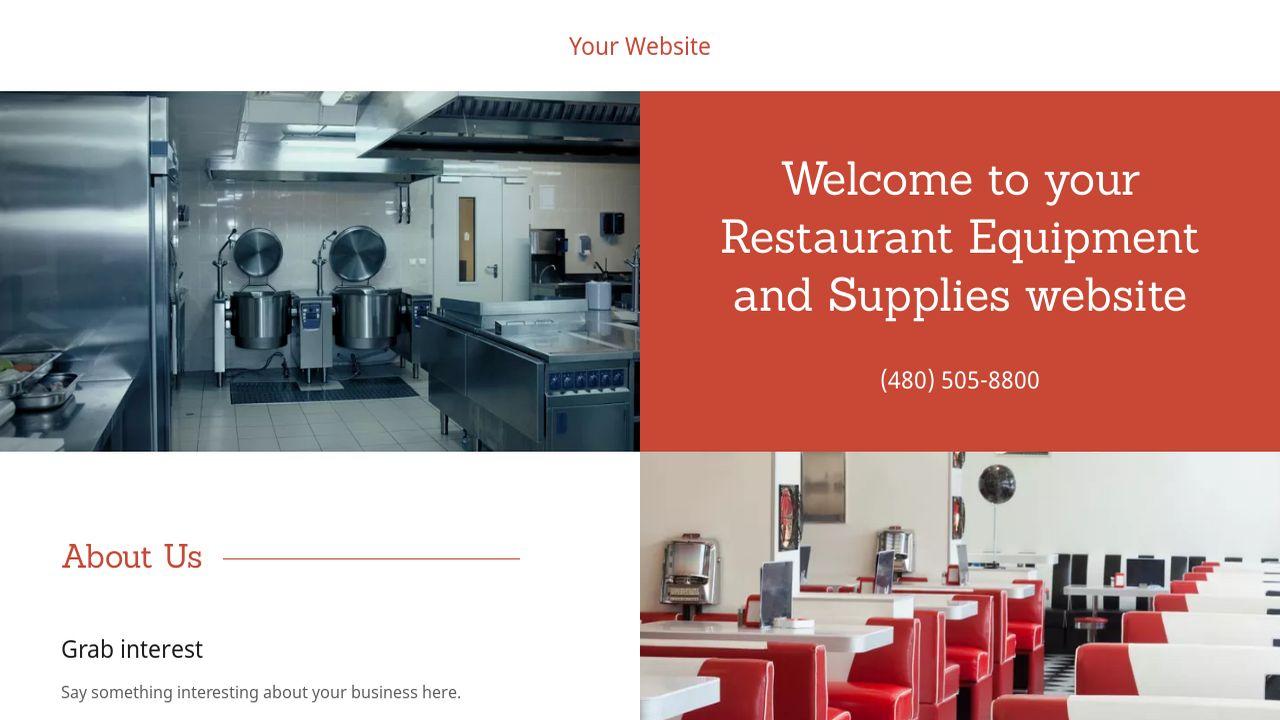 Restaurant Equipment And Supplies Website Templates Godaddy