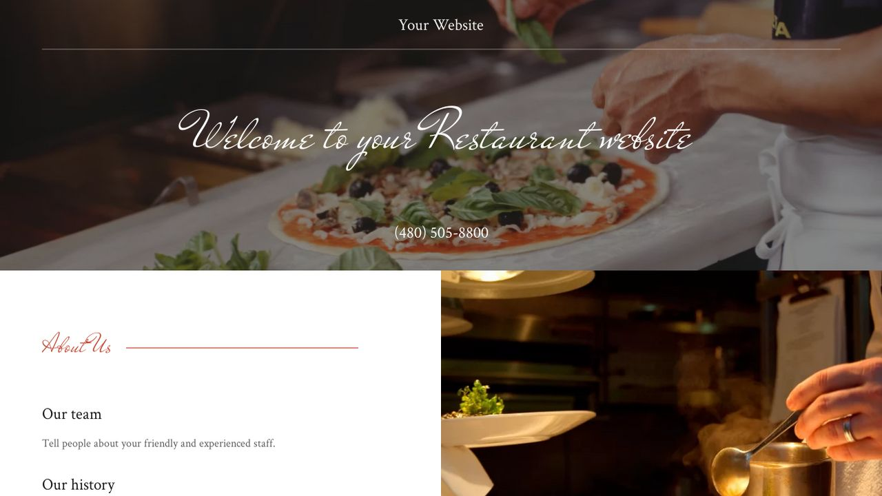 Restaurant Website: Example 17
