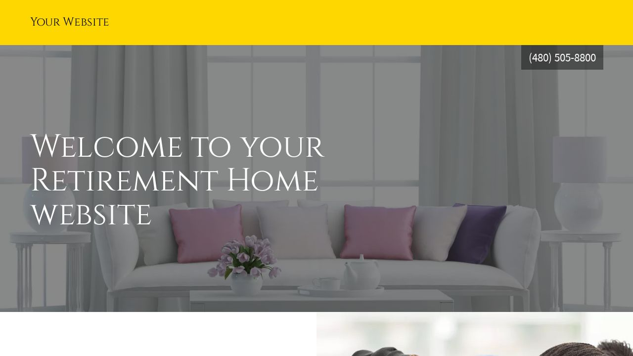 Retirement Home Website Templates | GoDaddy