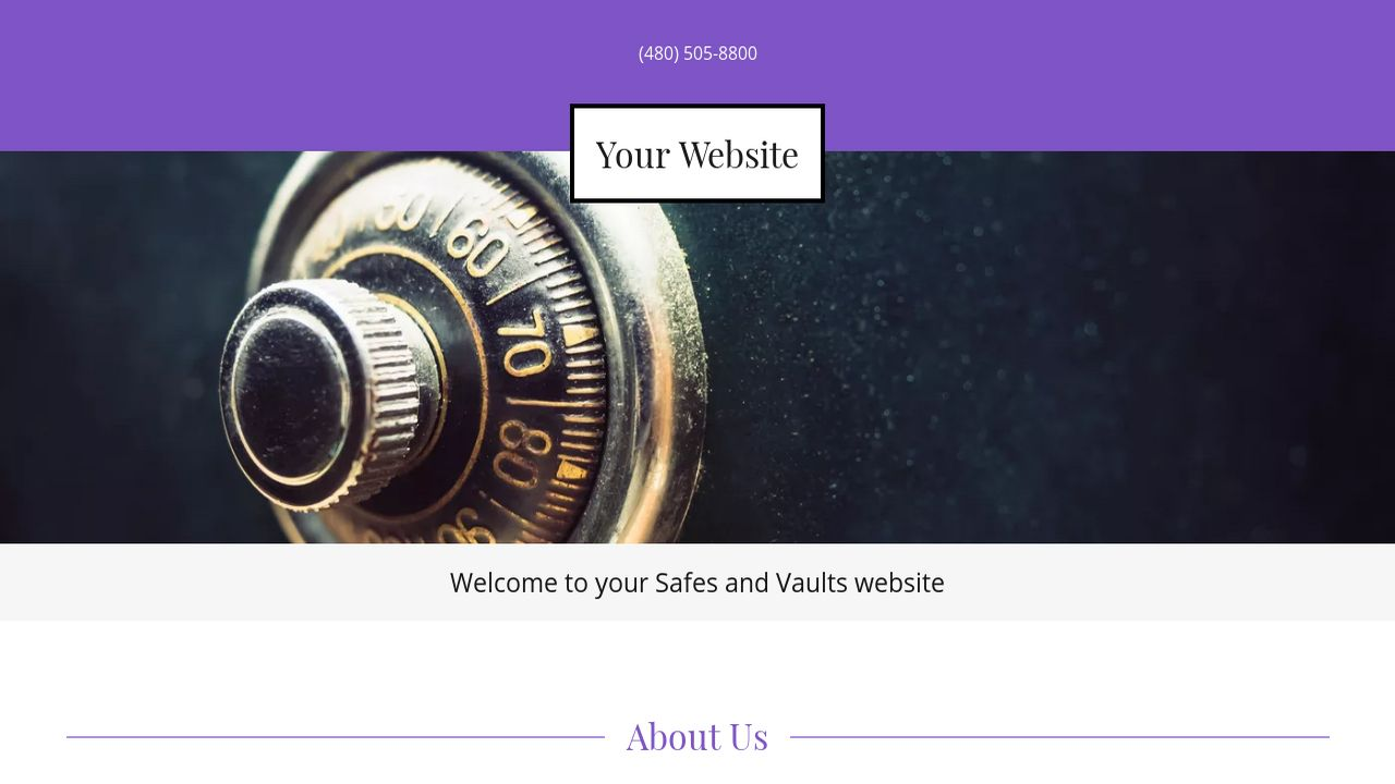 Safes and Vaults Website: Example 1