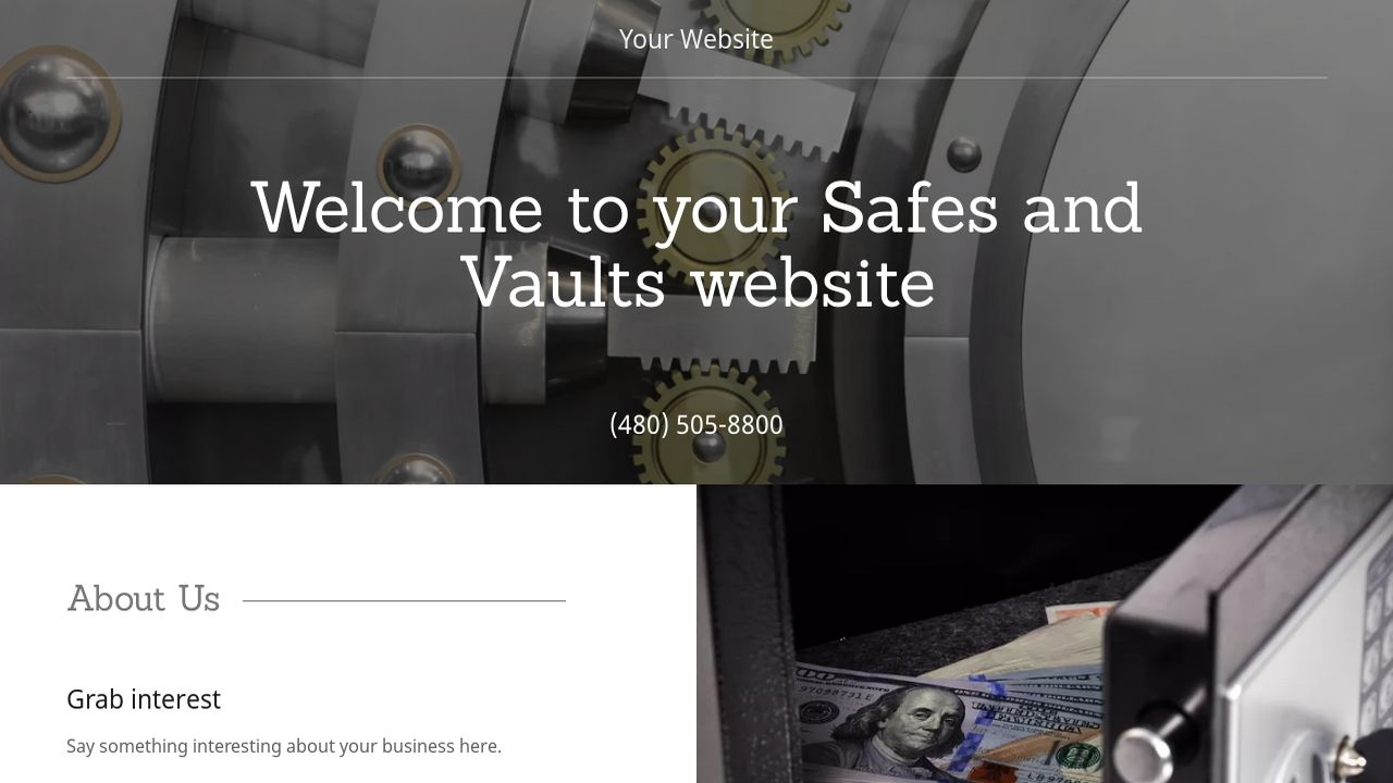 Safes and Vaults Website: Example 17