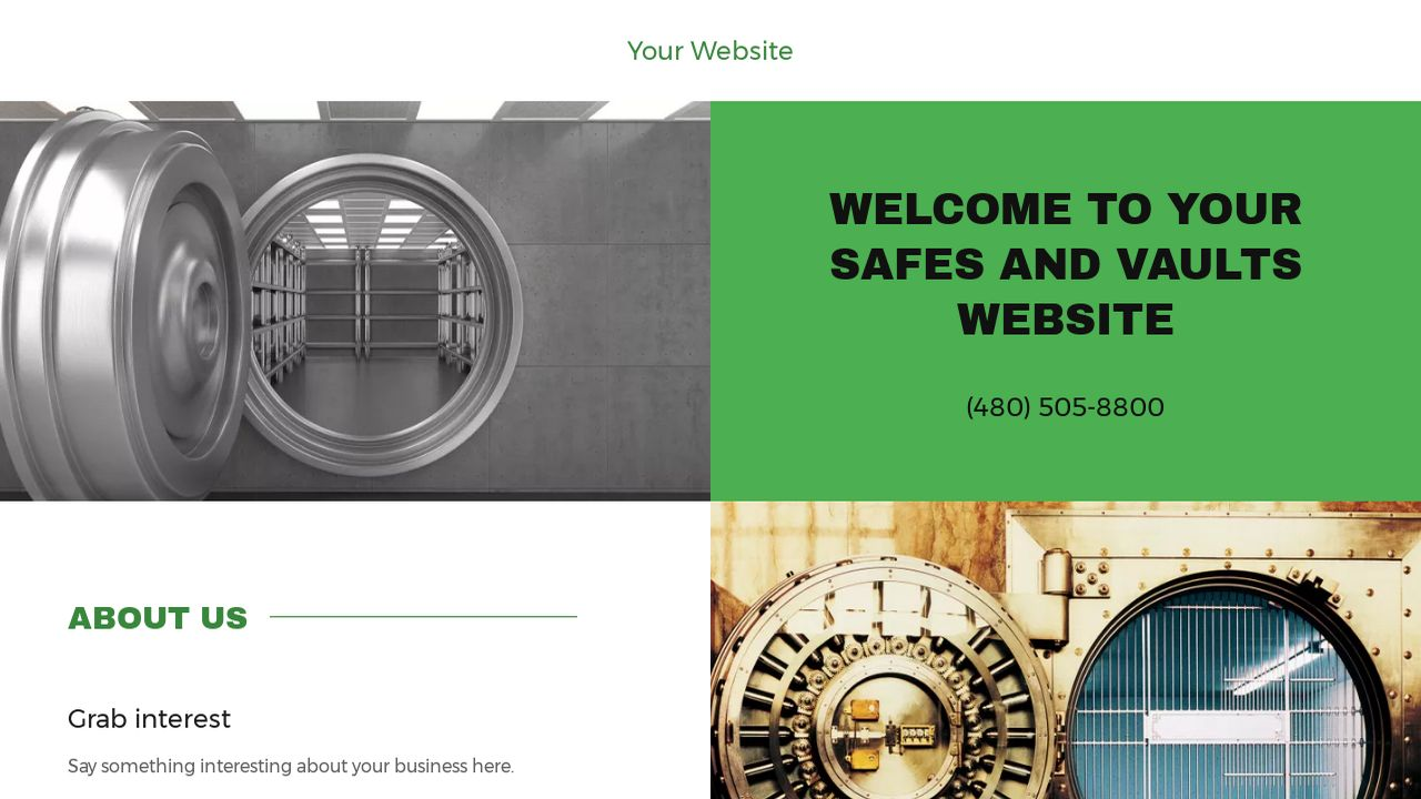 Safes and Vaults Website: Example 2