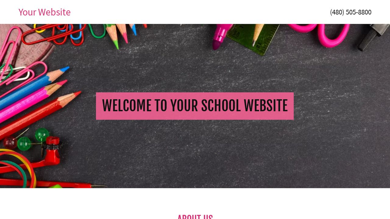 School Website: Example 10