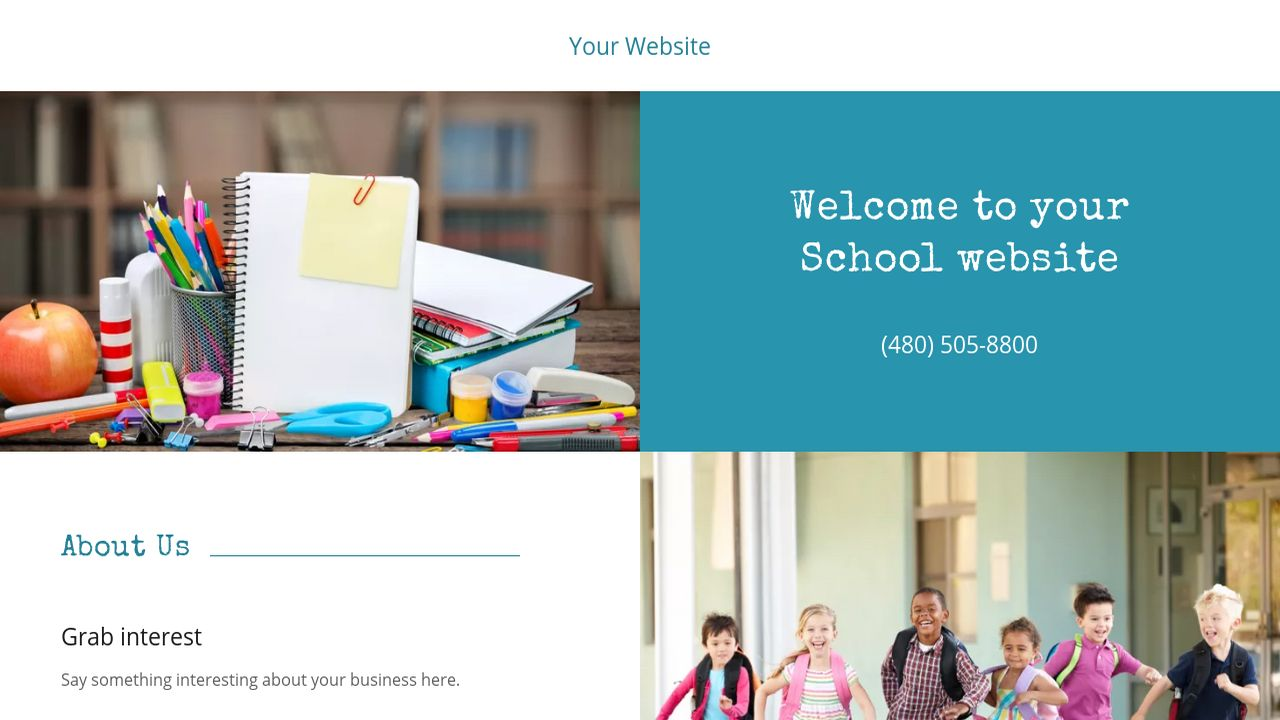 School Website: Example 6