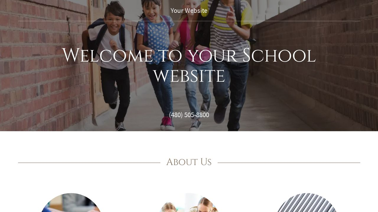 School Website: Example 7