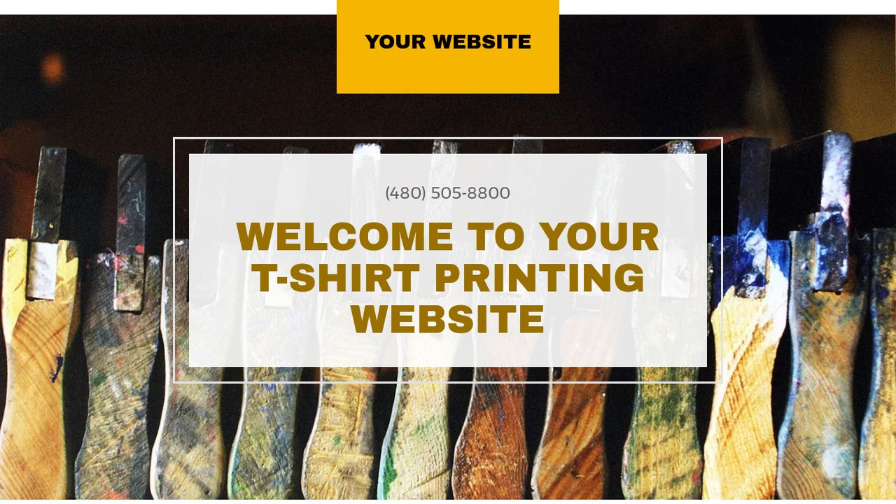 Example 18 T Shirt Printing Website Template Godaddy