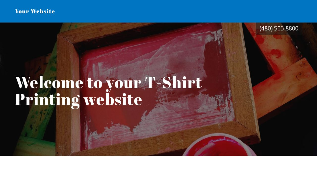 t shirt printing website templates godaddy