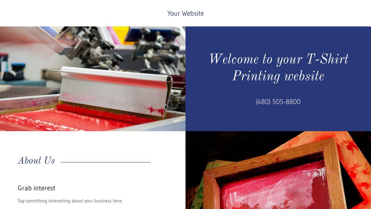 TShirt Printing Website Templates GoDaddy - T shirt printing website template