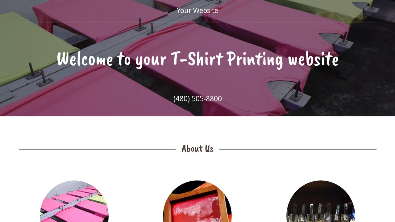 Perfect T Shirt Printing Website Template Photo Example