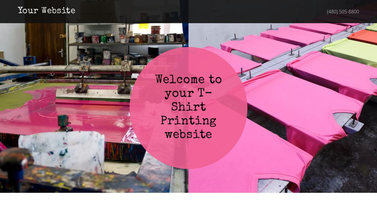 TShirt Printing Website Templates GoDaddy - T shirt design website template