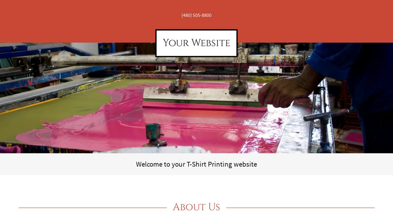 T Shirt Printing Website Templates Godaddy