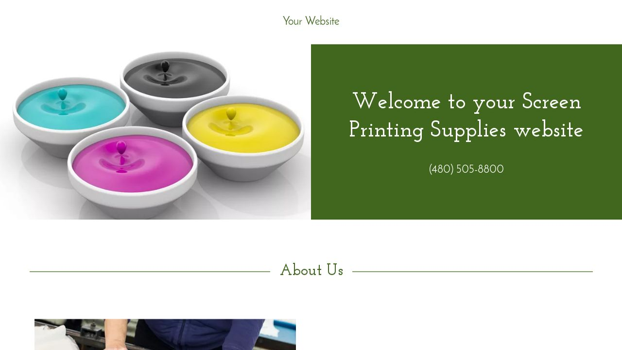 screen printing supplies website templates godaddy. Black Bedroom Furniture Sets. Home Design Ideas