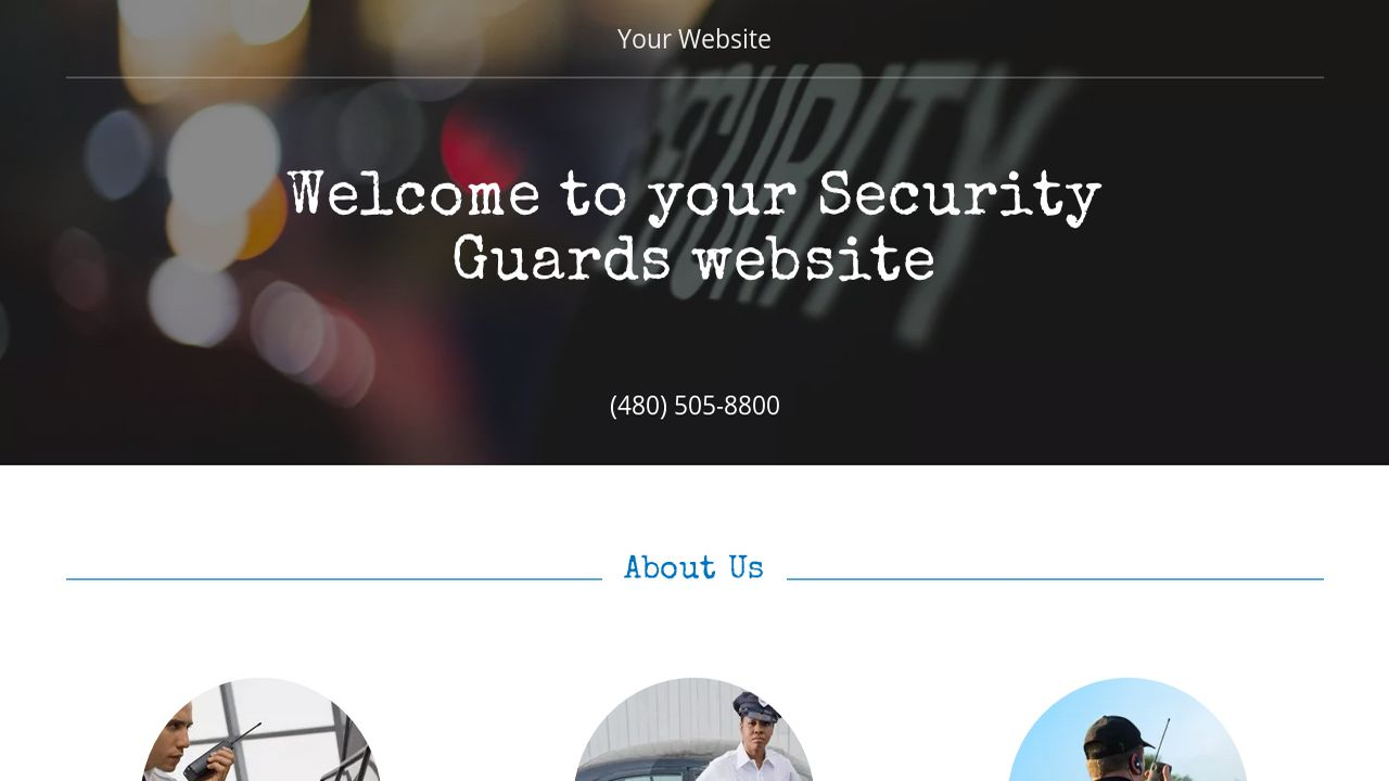 Security Guards Website: Example 1