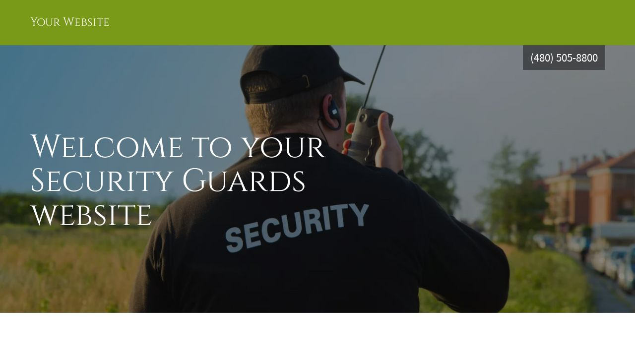 Security Guards Website: Example 10