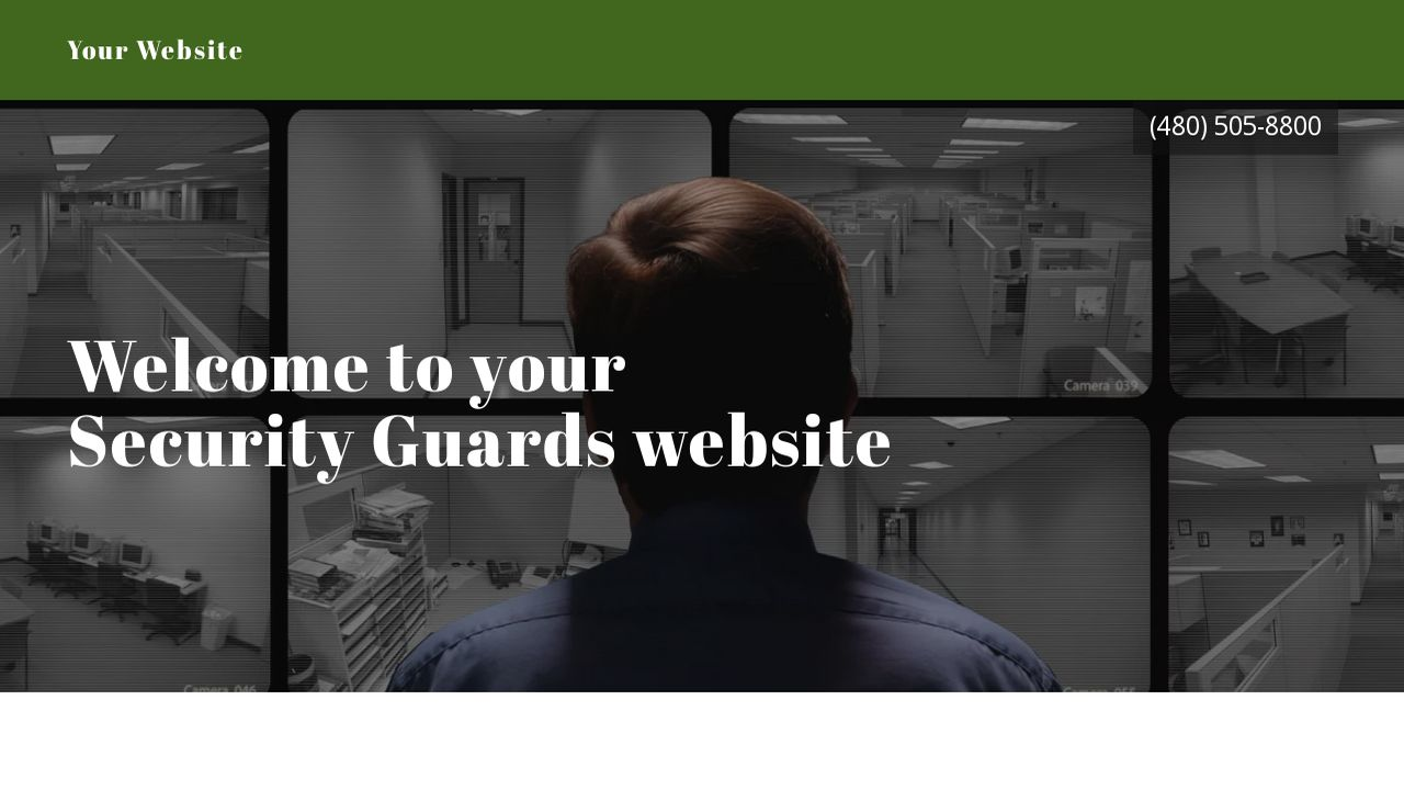 Security Guards Website: Example 17