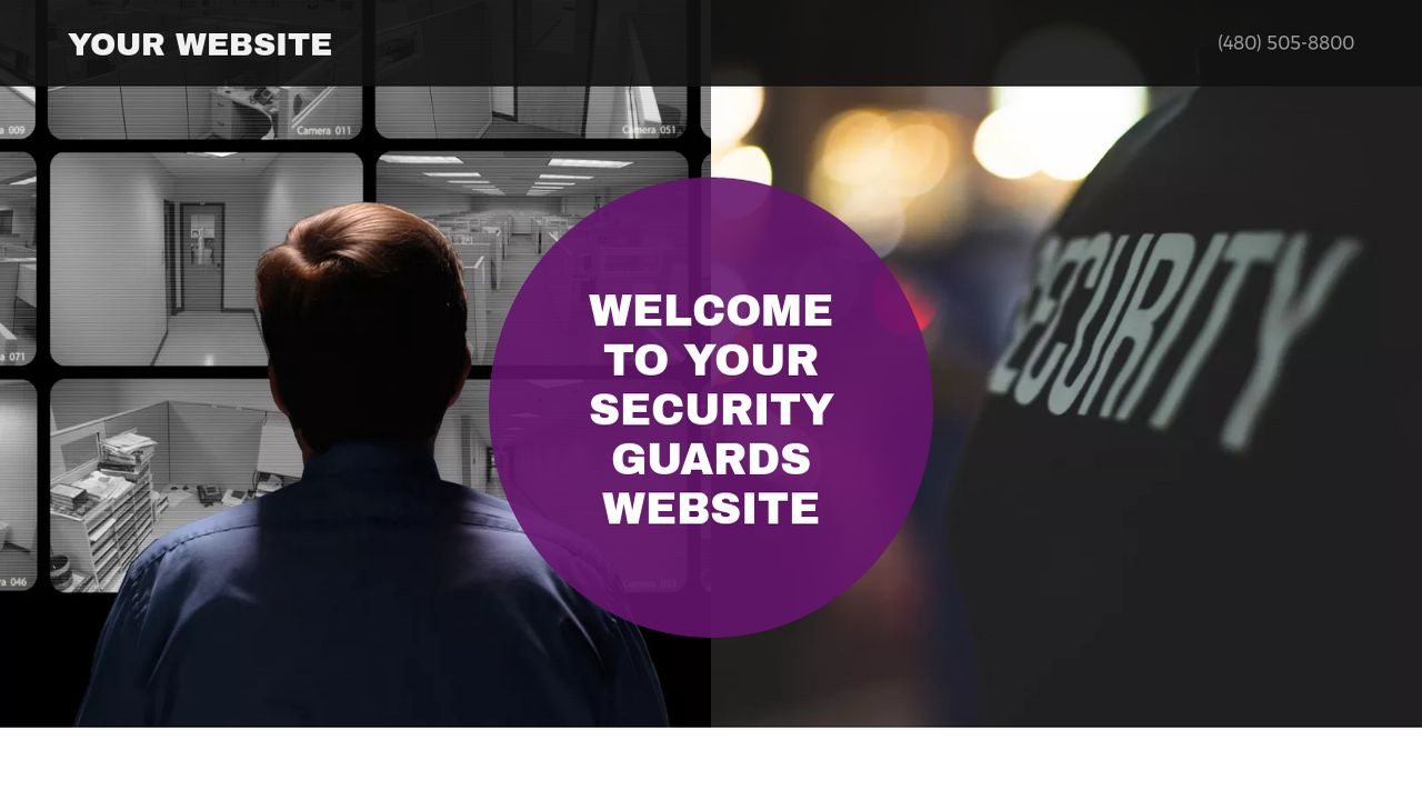 Security Guards Website: Example 4