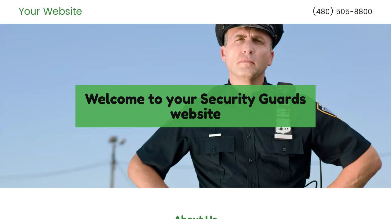 Security Guards Website: Example 5
