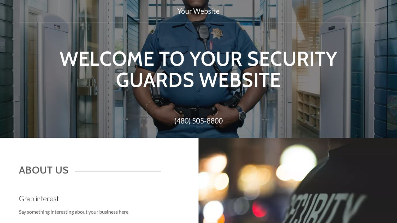 Security Guards Website: Example 8