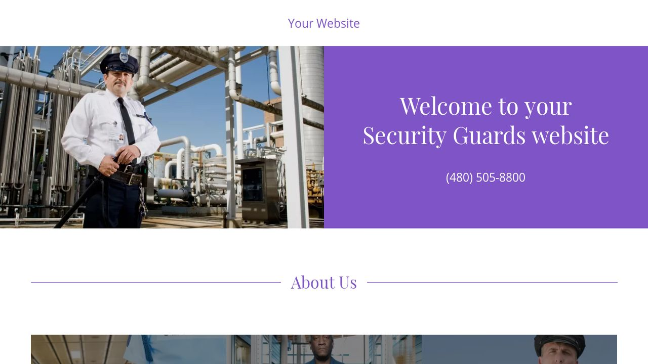 Security Guards Website: Example 9