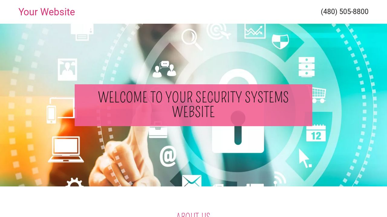 Security Systems Website: Example 17