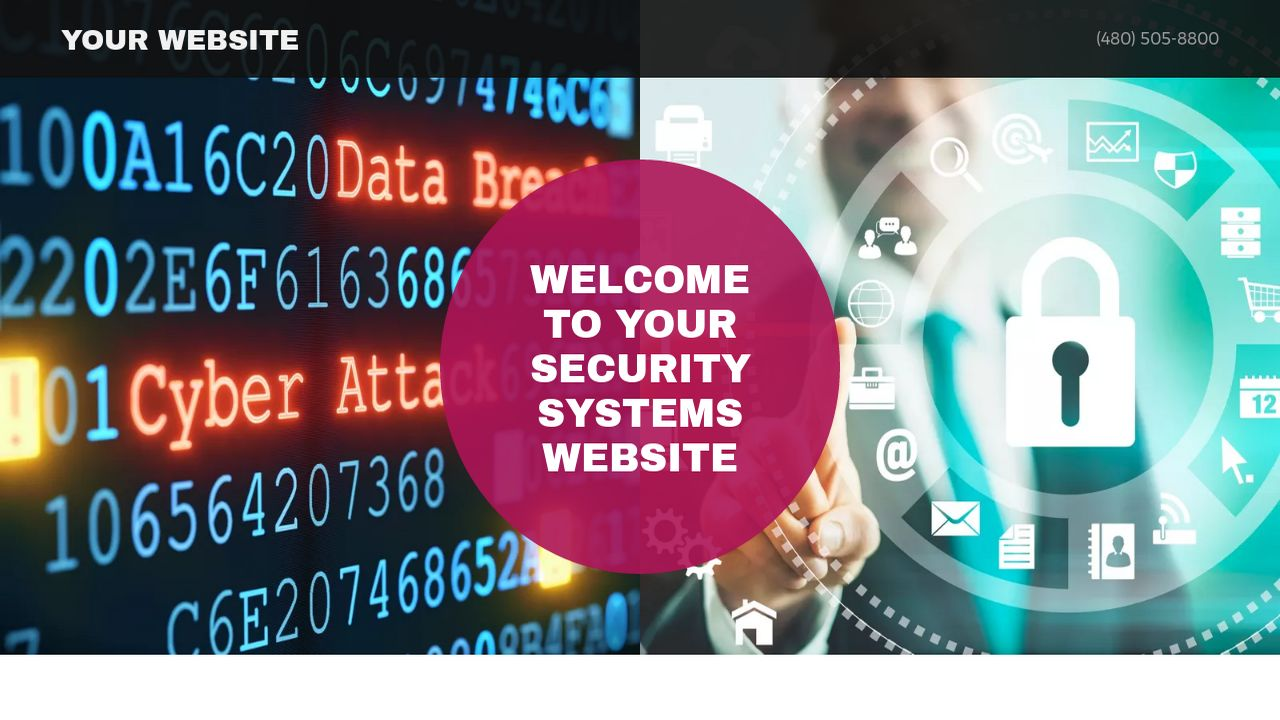 Security Systems Website: Example 2