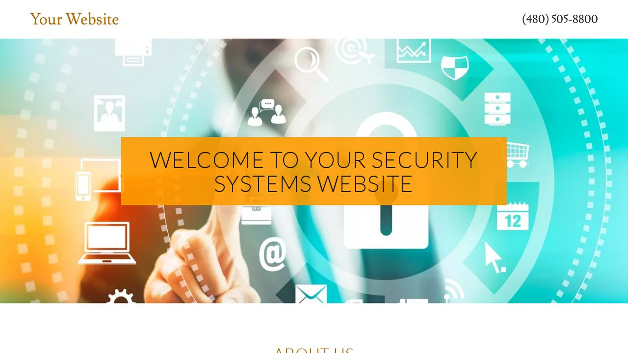 Security Systems Website: Example 3