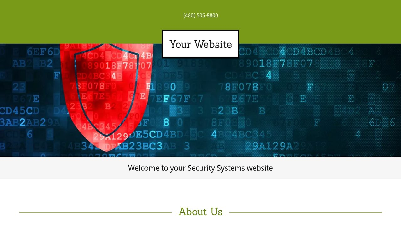 Security Systems Website: Example 7