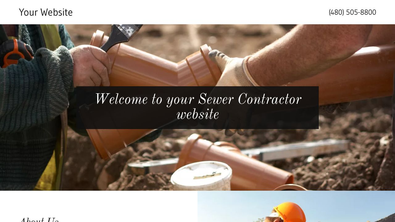 Sewer Contractor Website: Example 16
