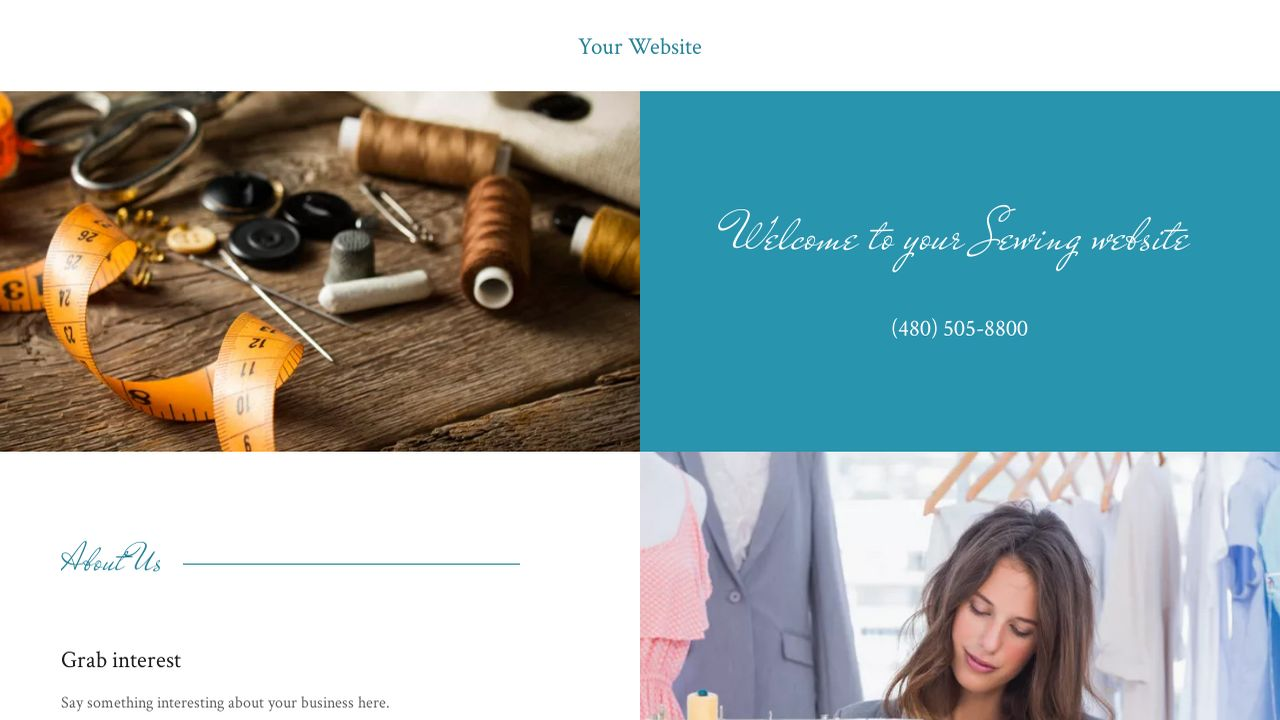example 2 sewing website template