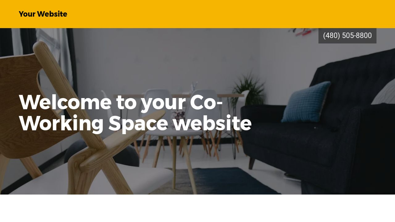 Co-Working Space Website: Example 1