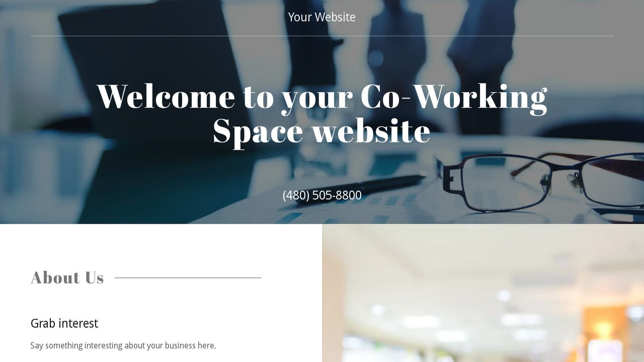 Co-Working Space Website: Example 12