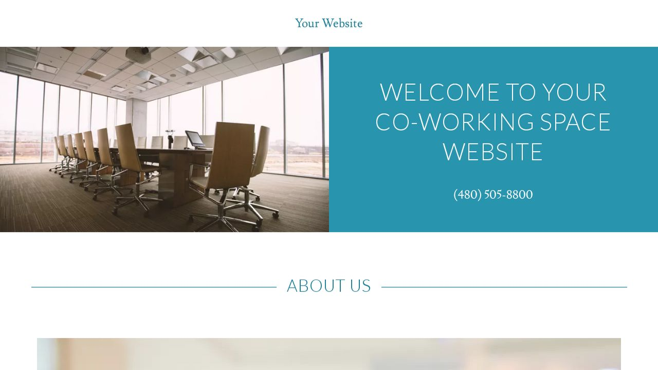 Co-Working Space Website: Example 13